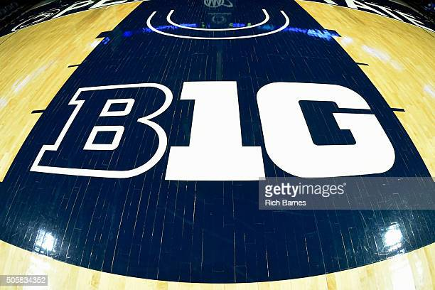 General view of the Big Ten Conference logo at the Bryce Jordan Center prior to the game between the Michigan State Spartans and the Penn State...