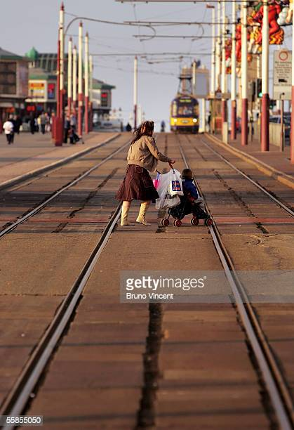A general view of the Blackpool seafront on October 5 2005 in Blackpool England The opposition Conservative Party are holding their yearly conference...