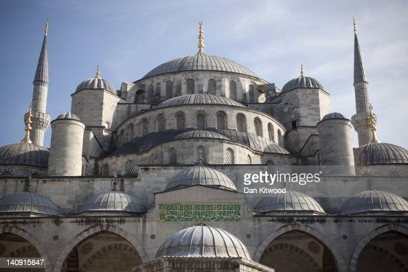 A general view of the Blue Mosque in the Sultanahmet area of Istanbul on February 23 2012 in Istanbul Turkey Though not the capital Istanbul is the...
