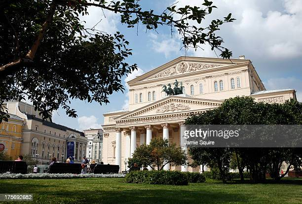 A general view of the Bolshoi Theater ahead of the 14th IAAF World Athletics Championships on August 6 2013 in Moscow Russia
