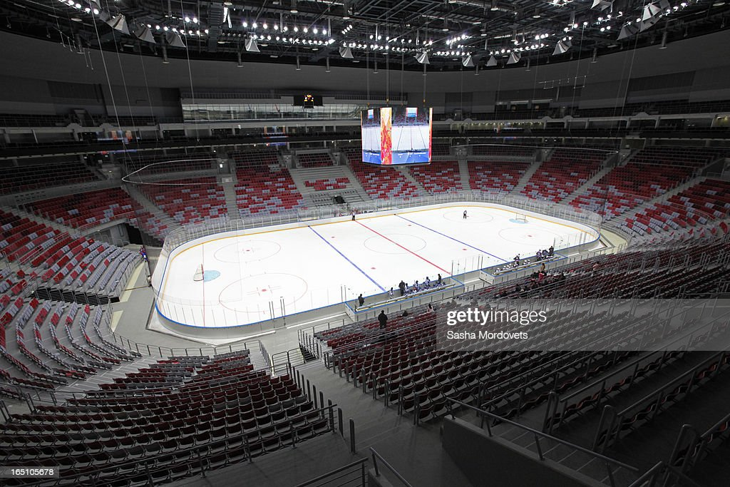 General view of the Bolshoy Ice Dome, an ice hockey arena in the Sochi Olympic Park on March, 2013 in Russia. Sochi will host the 2014 Winter Olympics.