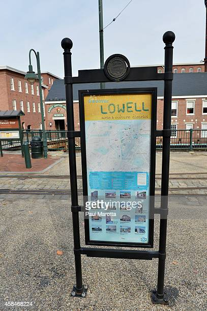 A general view of The Boott Cotton Mill Museum in the former textile manufacturing town of Lowell on the Merrimack River as part of the Lowell...