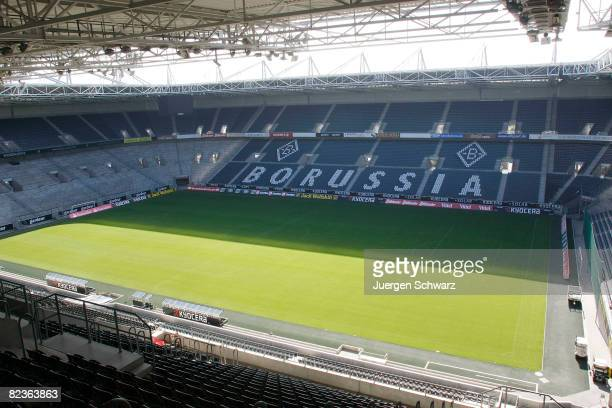 A general view of the Borussia Park is seen on August 15 2008 in Moenchengladbach Germany Officials from DFB and FIFA are touring Germany to inspect...