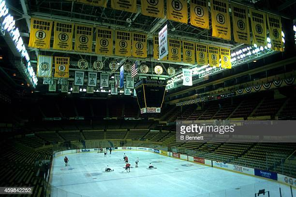 General view of the Boston Garden circa 1990 at the Boston Garden in Boston Massachusetts