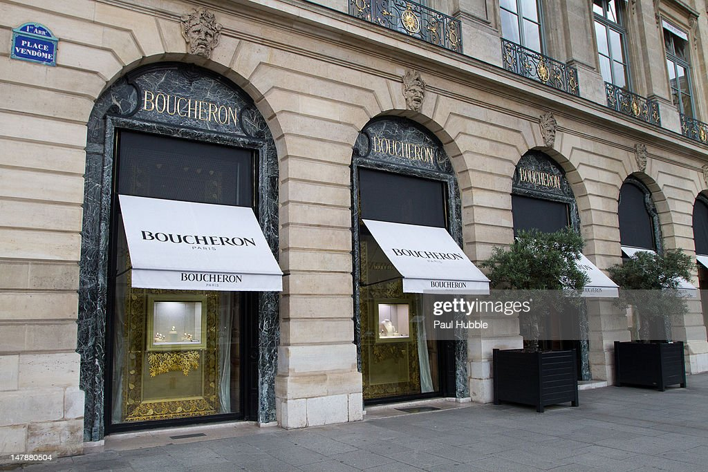 A general view of the 'Boucheron' jewellery store on the 'Place Vendome' on July 5 2012 in Paris France