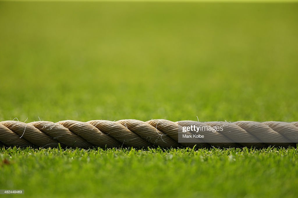 A general view of the boundary rope is seen during day one of the tour match between the Chairman's XI and England at Traeger Park on November 29...