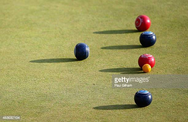 A general view of the bowls at Kelvingrove Lawn Bowls Centre during day nine of the Glasgow 2014 Commonwealth Games on August 1 2014 in Glasgow...