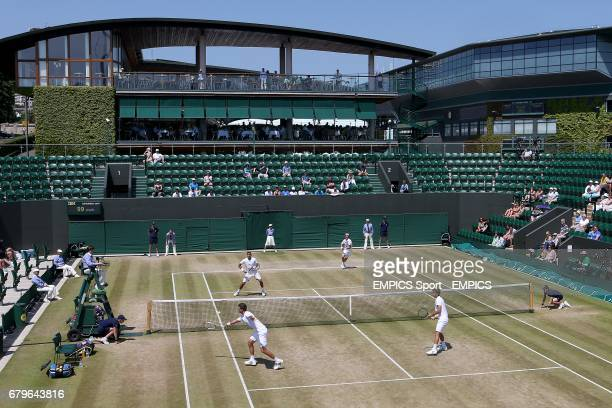 General view of the Boys' Doubles final between France's Enzo Couacaud Italy's Stefano Napolitano and Australia's Thanasi Kokkinakis Nick Kyrgios...