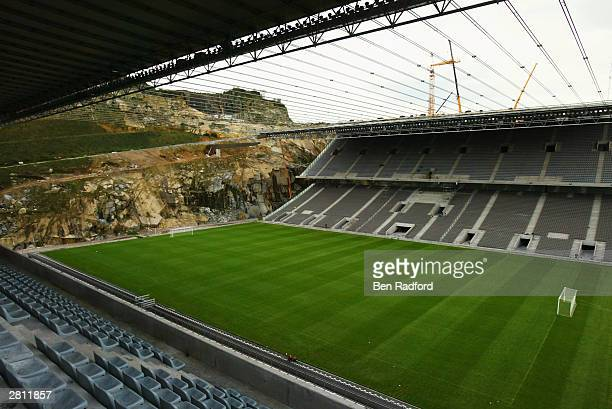 A general view of the Braga Municipal Stadium Braga Portugal One of the venues to be used for the European Championships in 2004