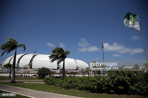 A general view of the brand new Dunas Arena during the 2014 FIFA World Cup Host City Tour on January 22 2014 in Natal Brazil