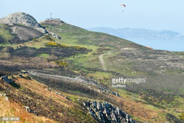 A general view of the BrayGreystones cliff walk with a view of Bray Head On Sunday March 26 in Bray Ireland