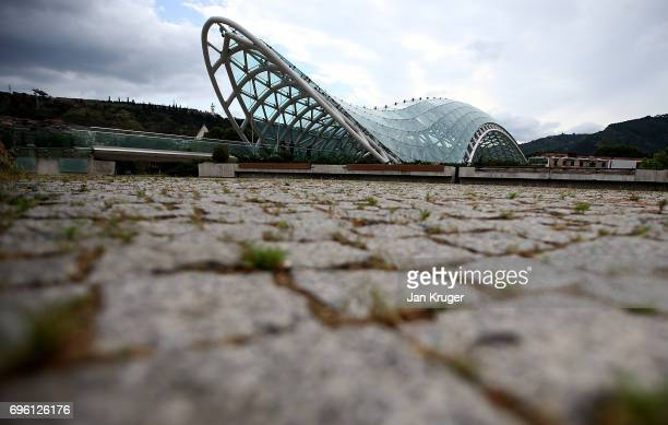 A general view of The Bridge Of Peace on June 14 2017 in Tbilisi Georgia The 2017 World Rugby Under 20 Championship are taking place in June in the...