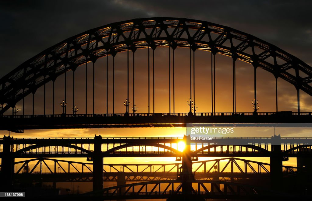 A general view of the Bridges over the River Tyne on February 3 2012 in Newcastle upon Tyne England