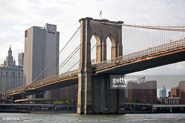 A general view of the Brooklyn Bridge on Independence Day on July 4 2015 in New York City