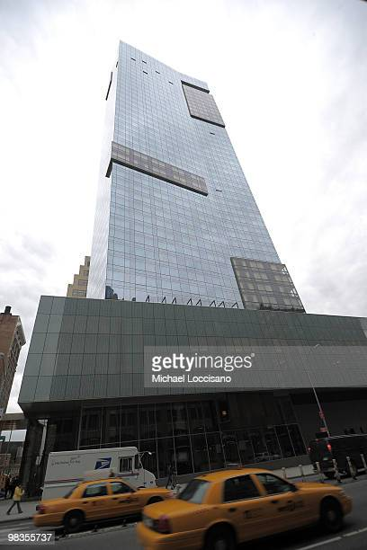 General view of the building exterior during the ribbon cutting ceremony for Trump SoHo New York at Trump SoHo on April 9 2010 in New York City