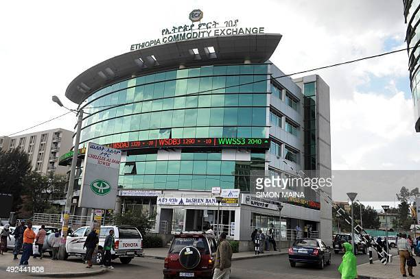 A general view of the building housing the Ethiopian Commodity Exchange in the capital Addis Ababa on May 282011 The ECX is a new initiative for...