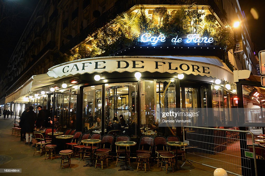 General view of the Bulgari And Purple Magazine Party at Cafe de Flore on March 3 2013 in Paris France