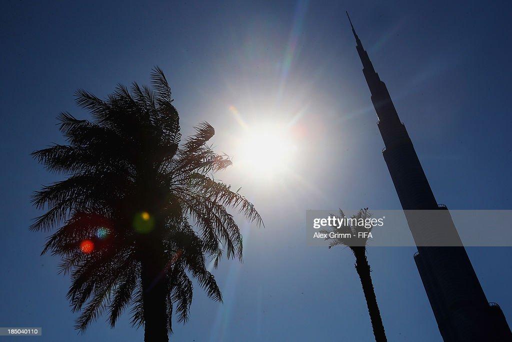 General view of the Burj Khalifa Dubai ahead of the FIFA U-17 World Cup UAE 2103 on October 17, 2013 in Dubai, United Arab Emirates.