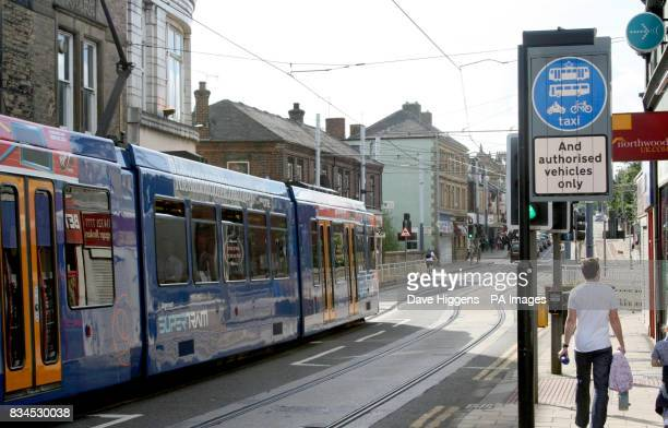 General view of the bus and 'tram gate' at Hillsborough Corner in Sheffield Thousands of motorists who defied the 'tram gate' are set to get a refund...
