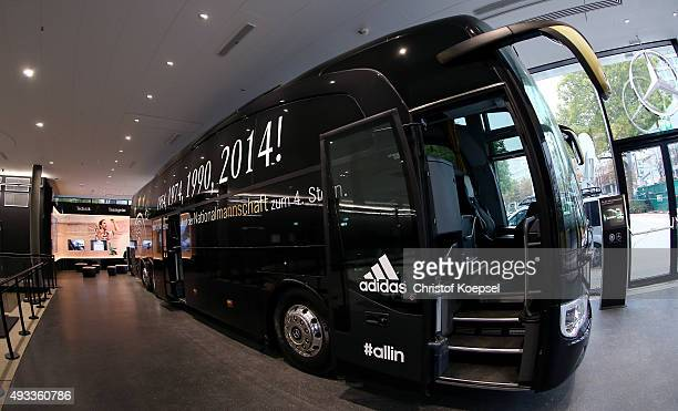 General view of the bus of the German National team prior to the Media Day of the German Football Museum at German Football Museum on October 19 2015...