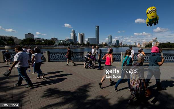 A general view of the business district on August 19 2017 in Ekaterinburg Russia