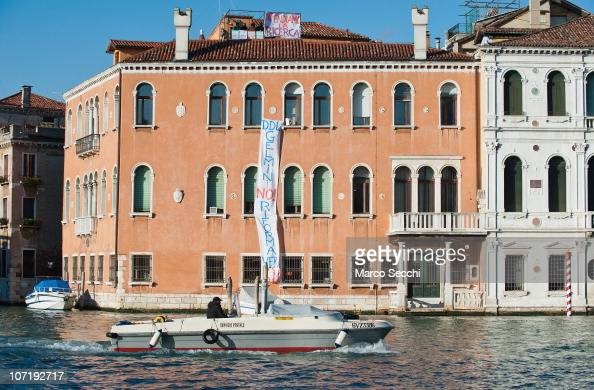 General view of the Ca' Cappello part of the Venice University of Ca' Foscari which is currently occupied by teachers and assistants against the...