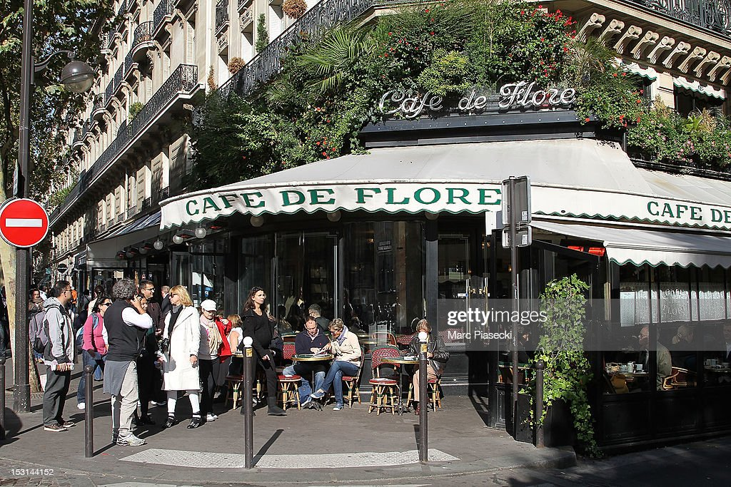 A general view of the 'Cafe de Flore' on October 1 2012 in Paris France