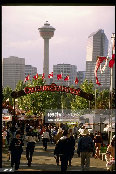 General view of the Calgary Stampede in Calgary Canada Mandatory Credit Mike Powell /Allsport