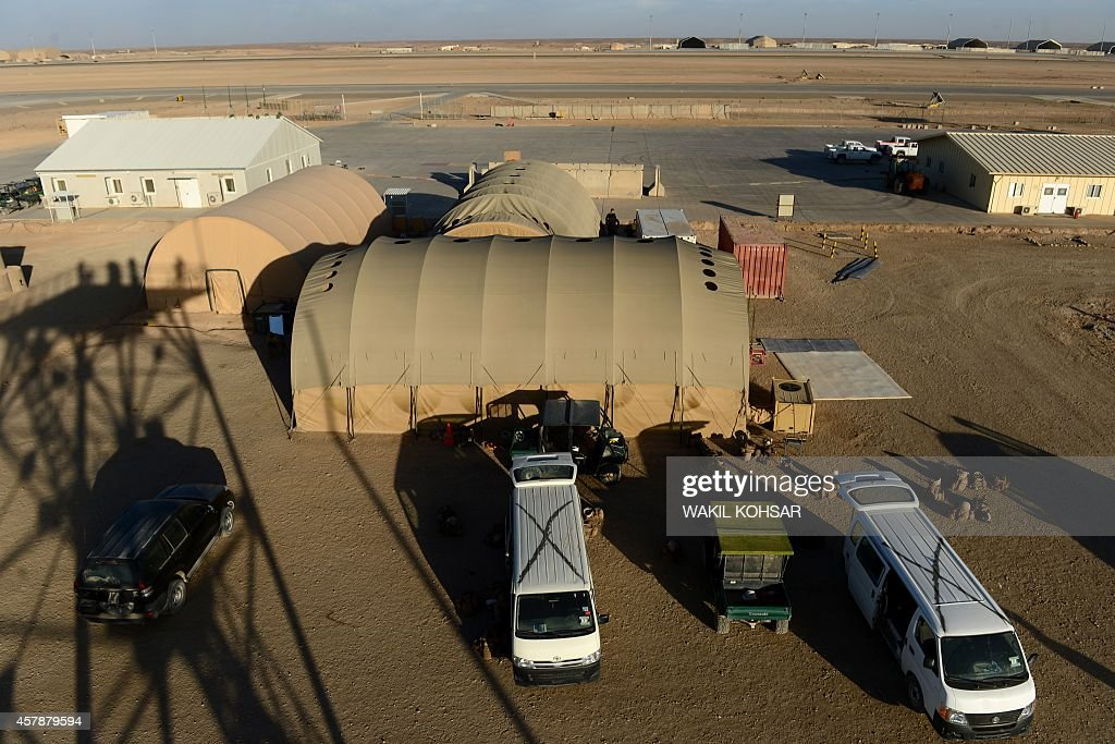 A general view of the Camp BastionLeatherneck complex at Lashkar Gah in Helmand province on October 25 2014 British forces October 26 handed over...
