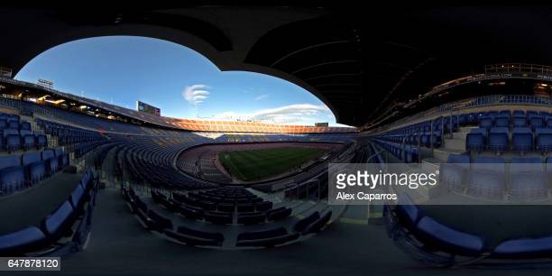 A general view of the Camp Nou stadium ahead of the La Liga match between FC Barcelona and RC Celta de Vigo at Camp Nou stadium on March 4 2017 in...