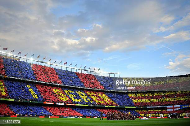 A general view of the camp nou Stadium prior to the La Liga match between FC Barcelona and Real Madrid at Camp Nou on April 21 2012 in Barcelona...