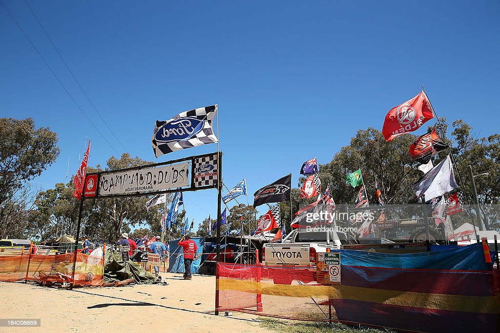 A general view of the camping grounds during the Bathurst 1000, which is round 11 of the V8 Supercars Championship Series at Mount Panorama on October 12, 2013 in Bathurst, Australia.