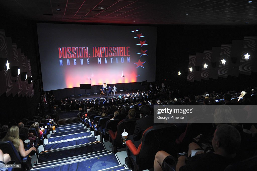 A general view of the Canadian Fan Premiere of 'Mission: Impossible Ð Rogue Nation' at the Cineplex Scotiabank Theatre on July 27, 2015 in Toronto, Canada.