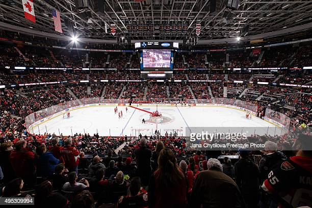 General view of the Canadian Tire Centre arena prior to the start of a game between the Ottawa Senators and the Calgary Flames at Canadian Tire...