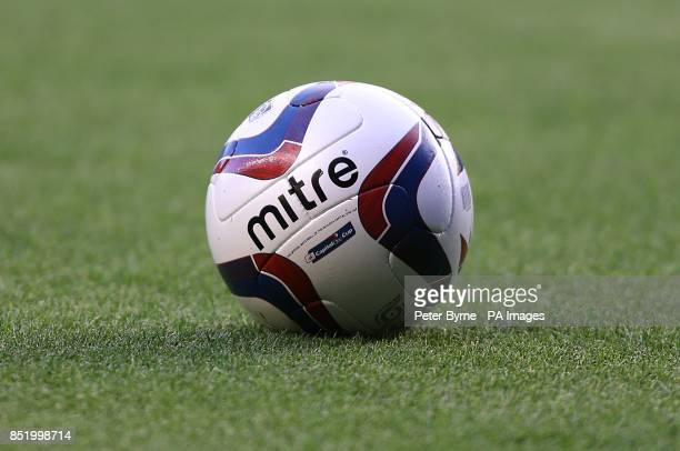 General view of the Capital One Cup official mitre matchball