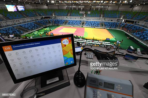 A general view of the Carioca Arena 2 which will host the judo and wrestling events during the Rio 2016 Olympic Games in Rio de Janeiro on August 3...