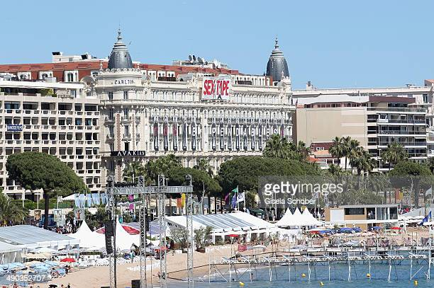 A general view of the Carlton hotel during the 67th Annual Cannes Film Festival on May 14 2014 in Cannes France