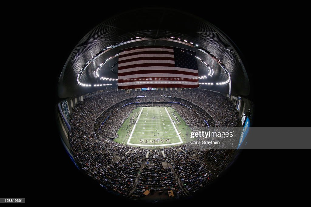 A general view of the Carolina Panthers at the New Orleans Saints at the Mercedes-Benz Superdome on December 30, 2012 in New Orleans, Louisiana.