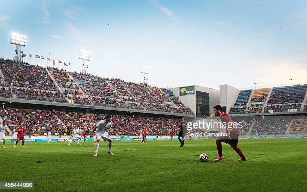 General view of the Carranza Stadium during the UEFA European Under21 Championship playoff second leg match between Spain and Serbia on October 14...
