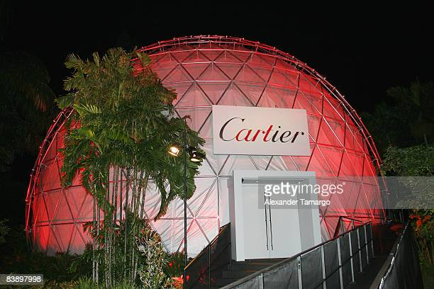 General view of the Cartier Dome at a private dinner in honor of Anri Sala at the Miami Beach Botanical Garden on December 2 2008 in Miami Beach...