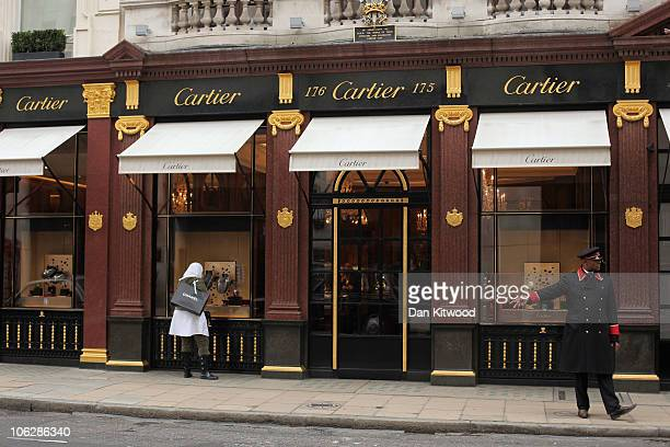 A general view of the Cartier store on New Bond Street on October 28 2010 in London England