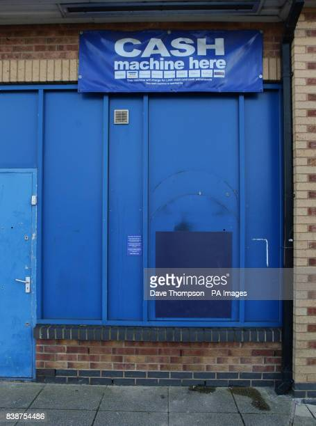 General view of the cash machine at Blockbuster Video store on the Fallowfield Shopping Precinct Levenshulme Manchester