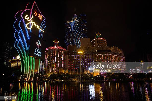A general view of the Casino strip on July 29 2013 in Macau Macau Macau the only place in China with legalized casino gambling is booming Gambling...