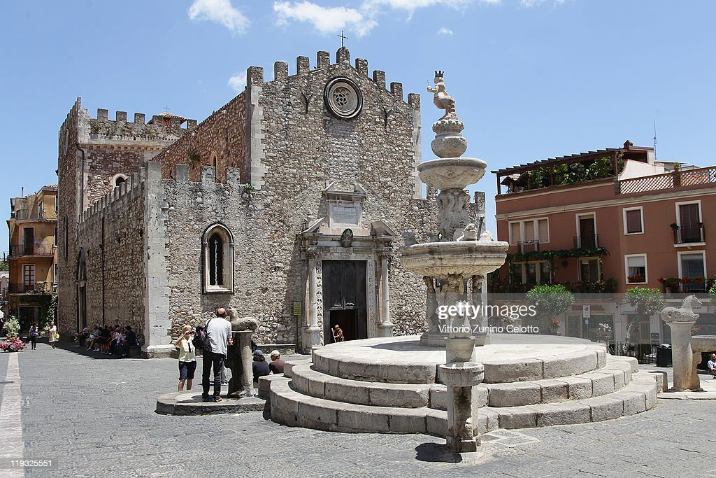 A general view of the Cathedral of Taormina on June 11 2011 in Taormina Italy