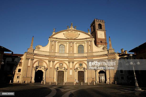 A general view of the cathedral of Vigevano on August 4 2009 in Vigevano Italy Vigevano is a town in the province of Pavia Lombardy It is at the...