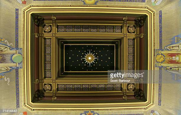 A general view of the ceiling of the Grand Temple inside of Freemason's Hall on July 11 2006 in London England Royal objects will be on display for...