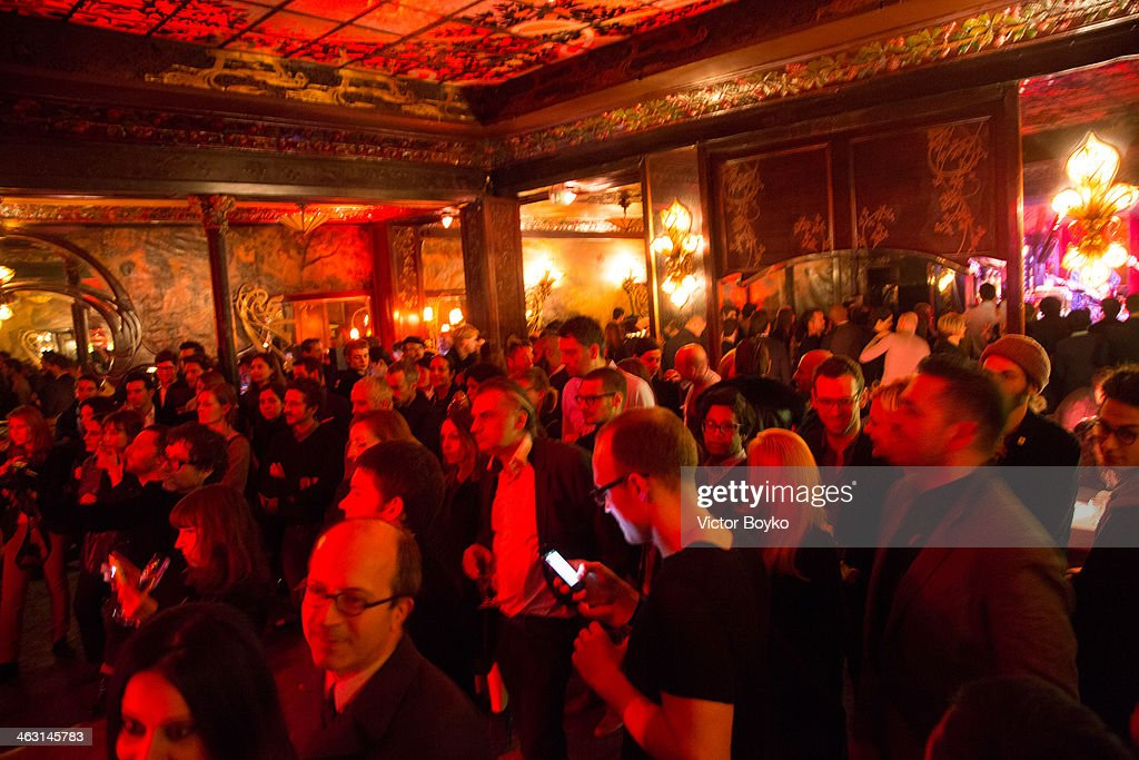 General view of the celebration launch of first Robert Clergerie Homme Menswear Fall/Winter 2014-2015 collection as part of Paris Fashion Week on January 16, 2014 in Paris, France.