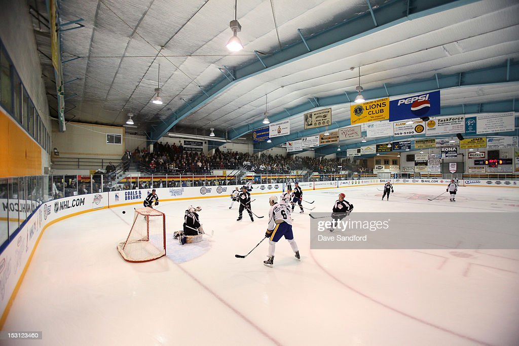 A general view of the Celebrity Hockey Game at the Stirling and District Recreation Centre during Kraft Hockeyville Day 1 on September 30, 2012 in Stirling, Ontario, Canada.