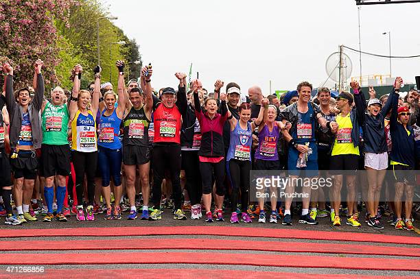 A general view of the Celebrity start at The London Marathon 2015 on April 26 2015 in London England