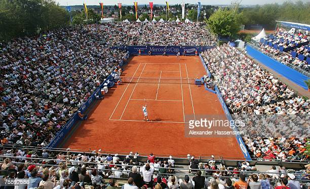 General view of the Center Court of TC Weissenhof during the Mens final between Rafael Nadal of Spain and Stanislas Wawrinka of Switzerland at the...